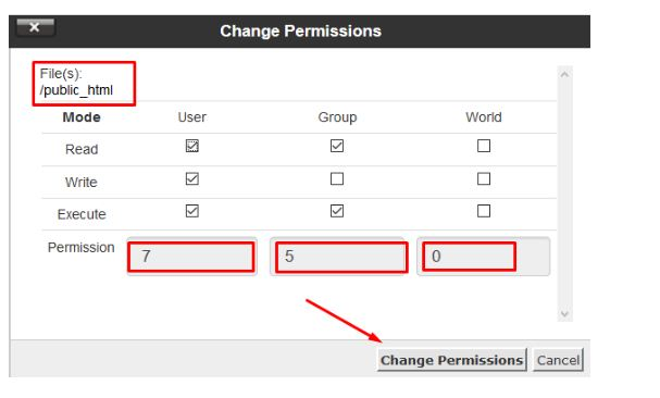How to Setup file permissions of any file in cPanel?(step by step guide )